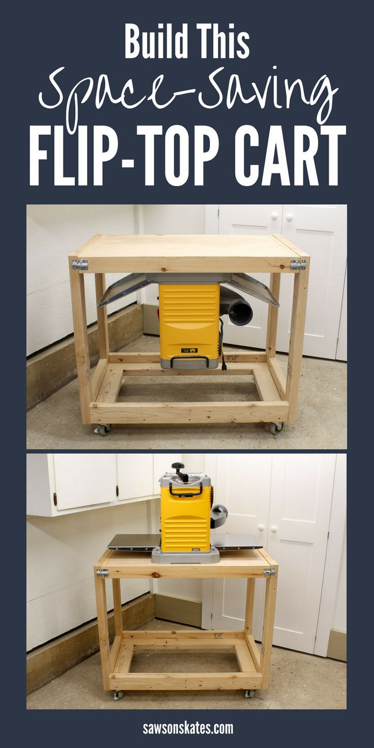 Diy Flip Top Workbench Cart Free Plans Saws On Skates Woodworking Projects Diy Easy Woodworking Projects Woodworking Projects