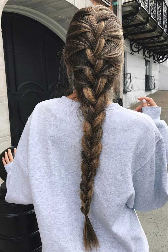 Einfache geflochtene Frisuren: Glorious Long Hair Ideas ★ Mehr anzeigen: glaminati.com