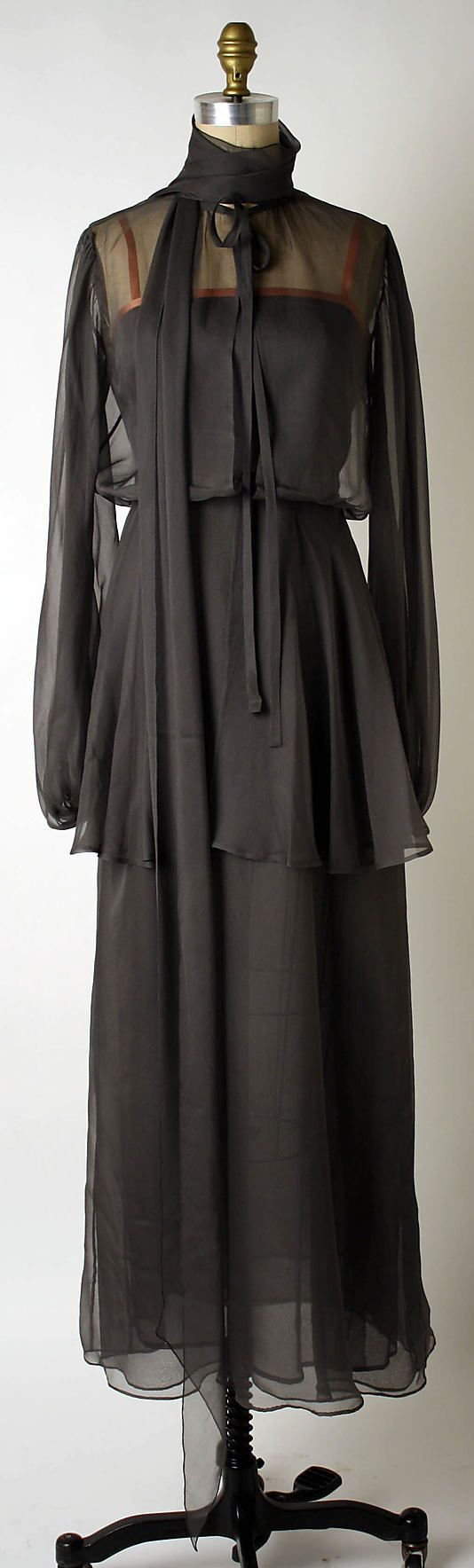Dress, Evening Yves Saint Laurent, Paris (French, founded 1962) Designer: Yves Saint Laurent (French (born Algeria) Oran 1936–2008 Paris) Date: ca. 1974 Culture: French Medium: silk