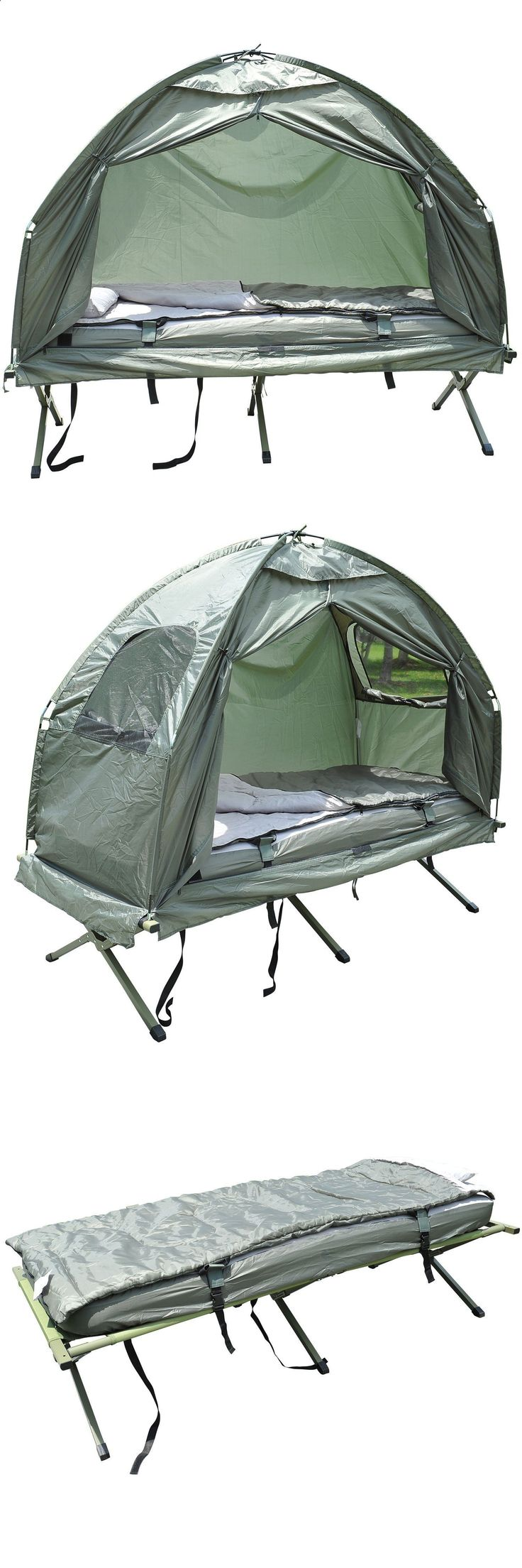 Other Camping Sleeping Gear 16040: Portable Tent Pop Up Camping Cot Outdoor Hiking Bed W Air Mattress Sleeping Bag -> BUY IT NOW ONLY: $200.99 on eBay!