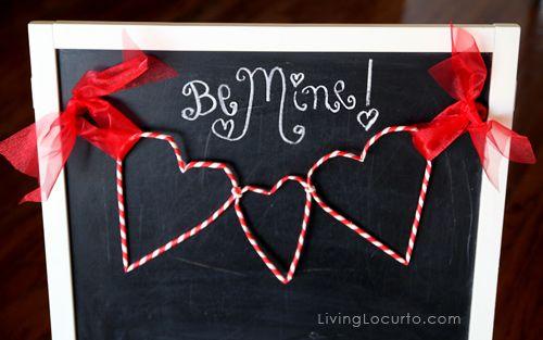 Paper Straw Garland - Valentines Day Craft