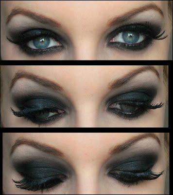 Big Blog Beauté: Tutoriel Smoky Eyes Black (yeux bleus)