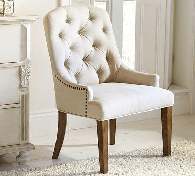 Love this office chair - Lorraine Armchair #potterybarn
