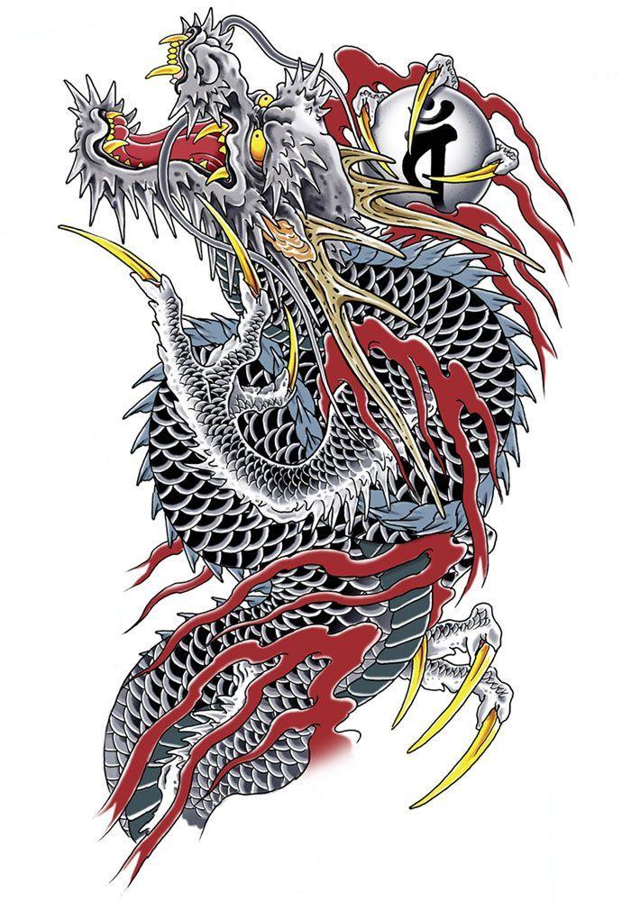 Những Mẫu Hình Xăm Rồng 3D Đẹp, Độc Đáo, Chất Lừ & Ấn