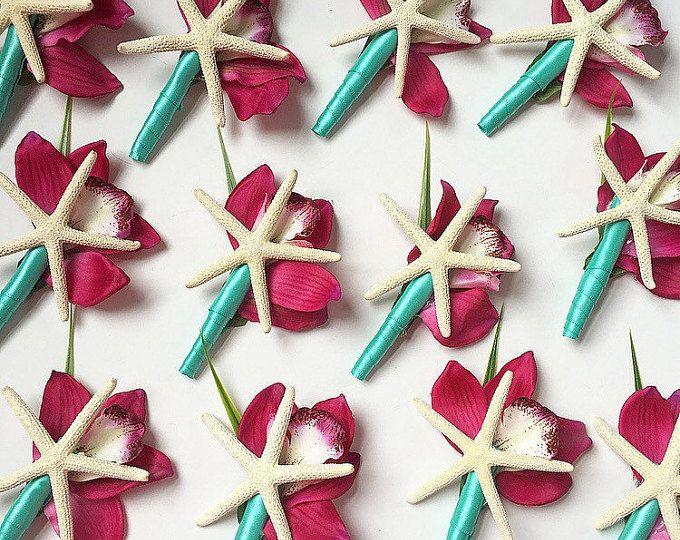 Starfish Boutonnière, Beach Wedding Boutonnière