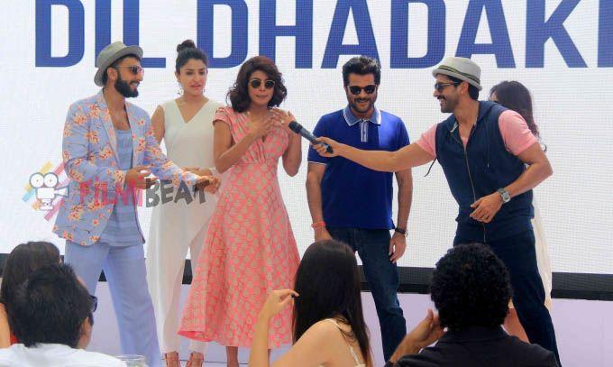 Ranveer Singh, Anushka Sharma, Priyanka Chopra, Anil Kapoor, Javed Akhtar At Promotion Of Bollywood Movie 'Dil Dhadakne Do'.