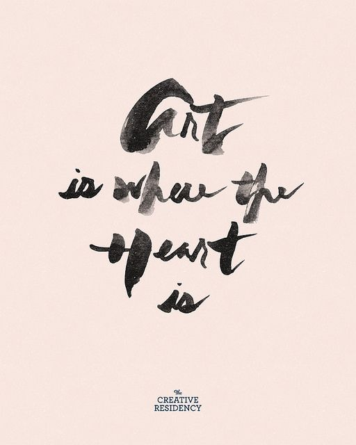 Art is where the Heart is @thecreativeres