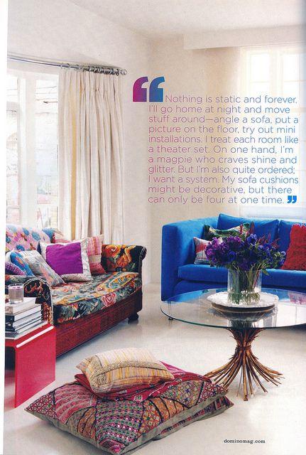 interior of Matthew Williamson's home from Domino 2008. LOVE the color.