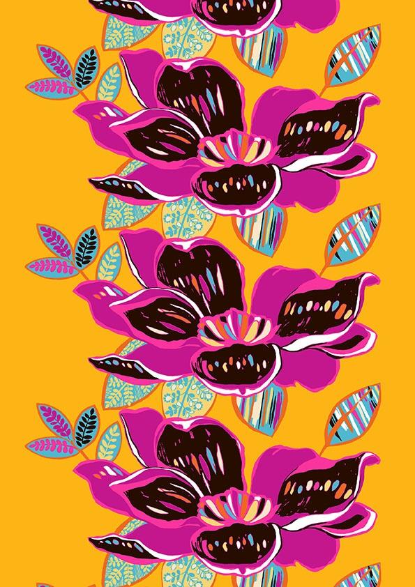 Rumba curtain. Design Saara Eklund