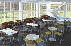 Variety and colour injected back into this cafeteria #lunchroom http://www.bistaples.ca/en/how-we-work/17-go2-book