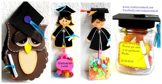 Bolsitas de dulces para regalar a los niños en su graduación ~ cositasconmesh