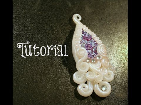 Purple Druzy Stone Polymer Clay Gothic Fantasy Tutorial | Velvetorium - YouTube