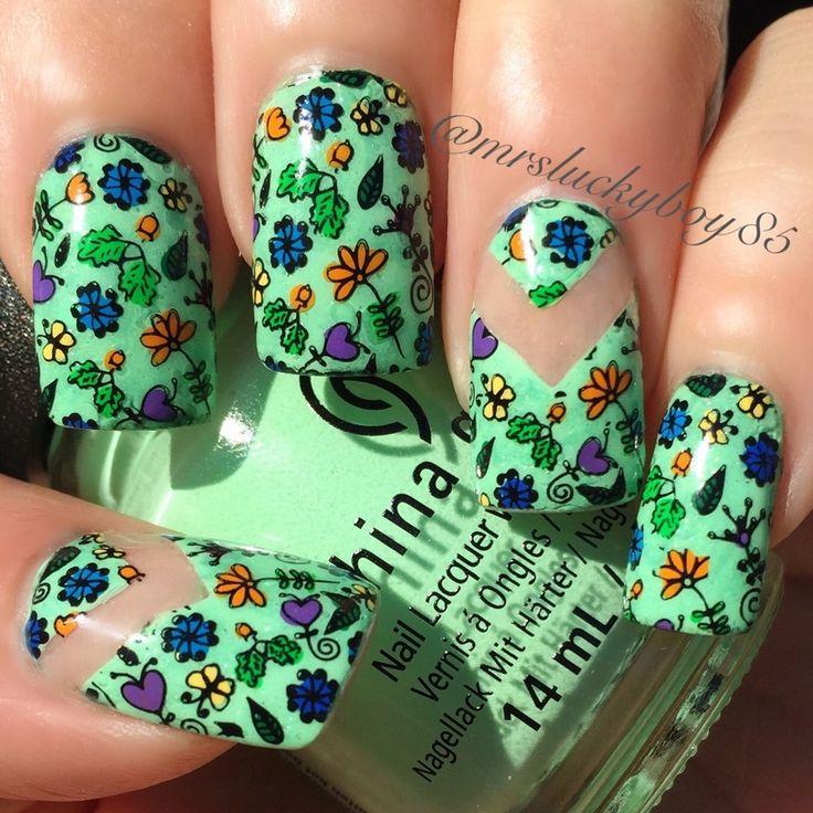 Mejores 219 imágenes de Ideas-Nails en Pinterest   Uñas bonitas ...