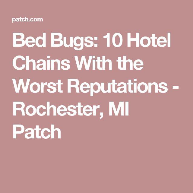 Bed Bugs Massachusetts Hotels