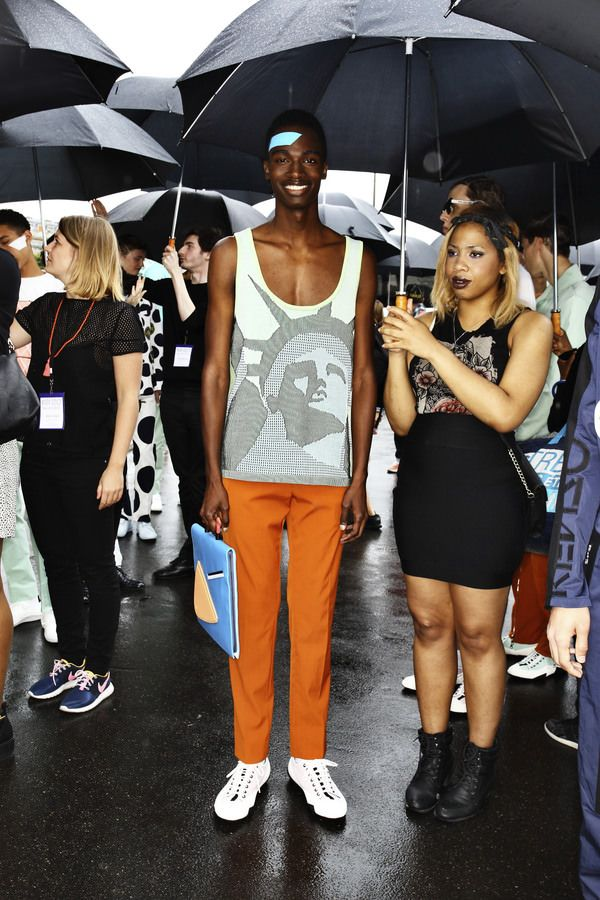 Kenzo doing a show outside in Paris in the rain > http://sonnyphotos.com/2014/07/kenzo-ss15-men-fashion-show-paris-backstage