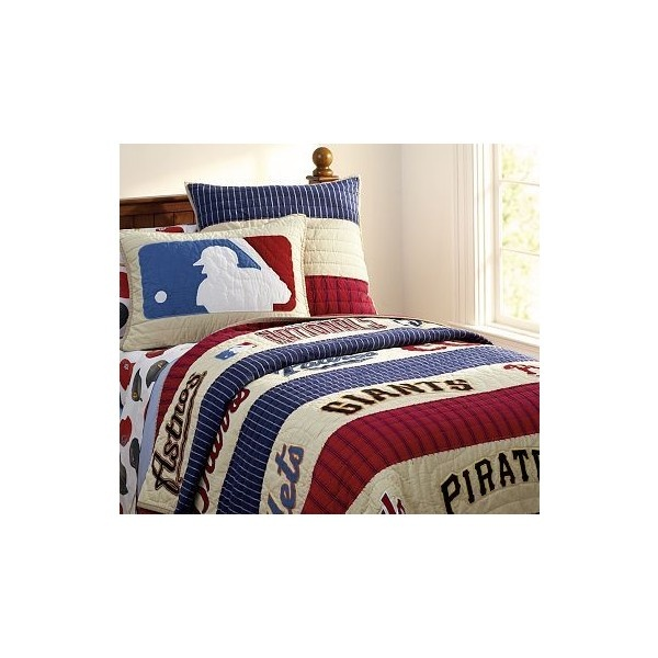 National League Quilted Bedding Pottery Barn Kids Found