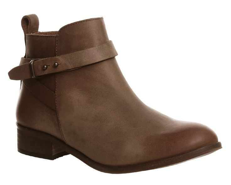 Office Instinct Ankle Boots Tan Leather - Ankle Boots