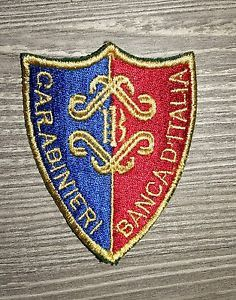 Patch Carabinieri Banca D'Italia  Made In Italy Dimensioni cm 7,5 x 6 cm. | eBay