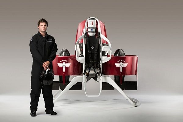 The Martin Jetpack is the result of inspiration and many years of development work by Glenn Martin and an enthusiastic team of engineers and other experts.  It uses sophisticated composites and a highly efficient propulsion system to achieve the goal of personal flight, with many safety features including a ballistic parachute.