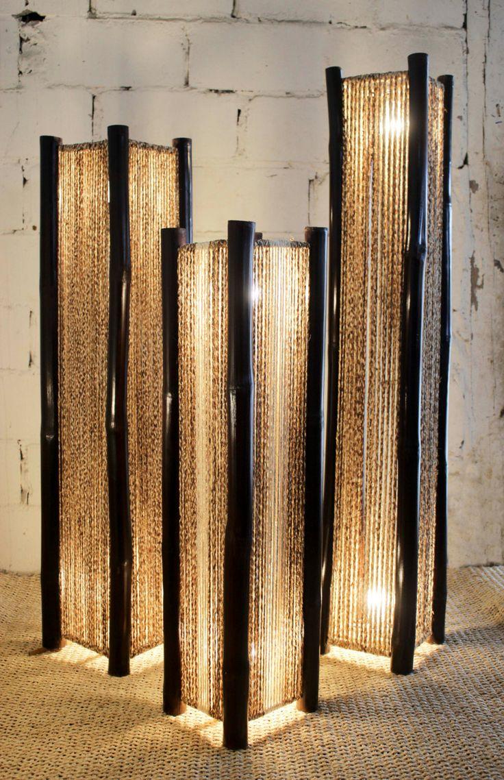 Hand Made Decorative floor Lamps  / Lámparas de Piso Decorativas hechas a mano de TheArtisansGalleryEC en Etsy