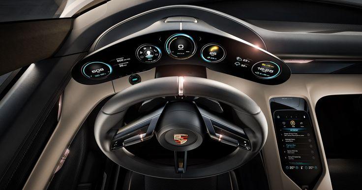 Tribute to tomorrow. Porsche Concept Study Mission E.
