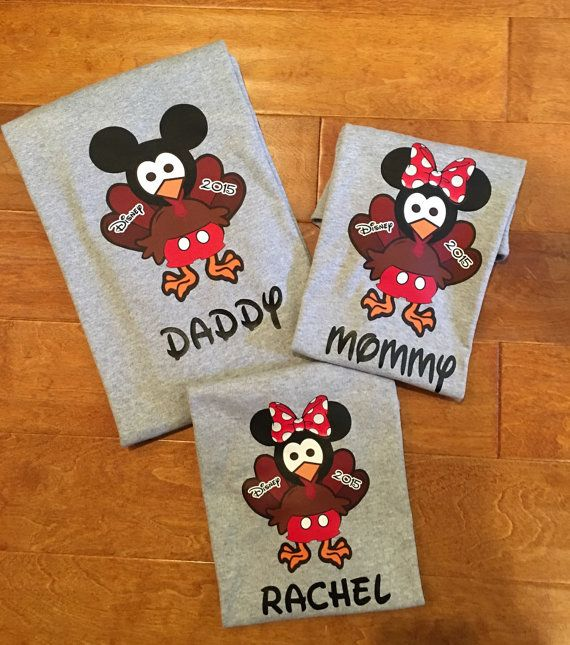Disney Thanksgiving Turkey Family Mickey ir Minnie Vacation T-Shirt, Disnyland…