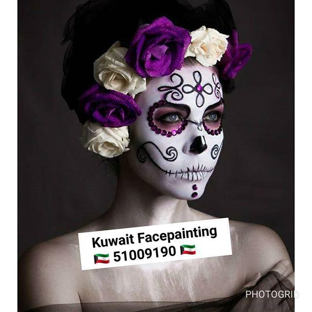 الوجه مصمم هالوين Facepainting في شهر نوفمبر عرض خاص الرسم على الوجه مصمم عرض خاص الرسم على الوجه مصمم هالوي Face Painting Glow Paint Halloween Face Makeup