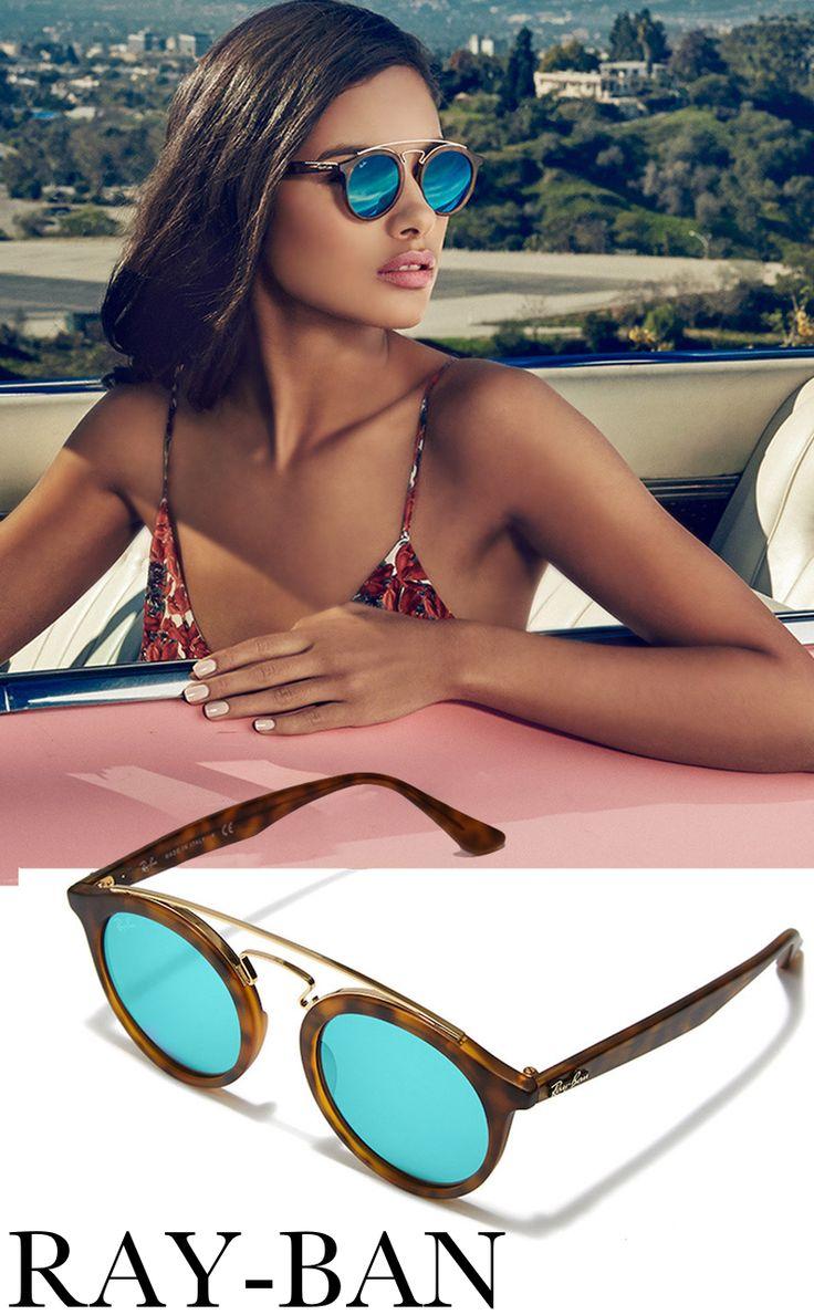Ray-Ban Gatsby 46mm Lustrzane Okrągłe okulary przeciwsłoneczne