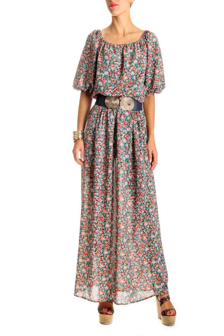 Платье Marc Jacobs. Длинное платье в цветочек. Красивое платье в пол в крестьянском стиле в мелкий цветочек - главный тренд этого лета. Эта модель платья выполнена легкой натуральной ткани, что позволяет платью идеально сесть по фигуре и не стеснять вас в движениях. Состав: 80% котон, 20% эластан. Купить красивое платье в крестьянском стиле в интернет магазине FStyle очень легко, достаточно посмотреть каталог длинных платьев 2014 онлайн бутика в Киеве. www.fstyle-shop.com.ua