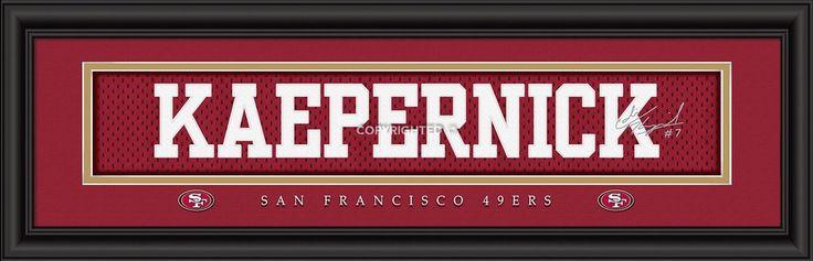 "San Francisco 49ers Colin Kaepernick Print - Signature 8""x24"""