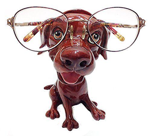 Chocolate Labrador Retriever Dog Breed Novelty Eyeglass Holder Stand