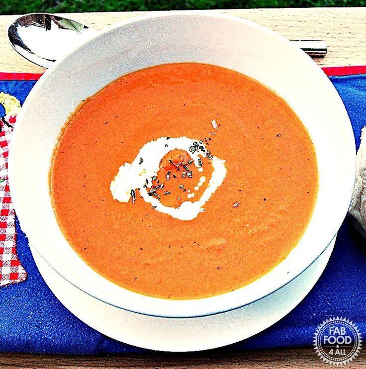 Cream of Tomato & Basil Soup - Fab Food 4 All