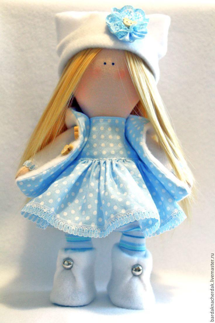 """Купить Кукла """"Снежная девочка"""" - кукла ручной работы, кукла, кукла в подарок, кукла интерьерная"""