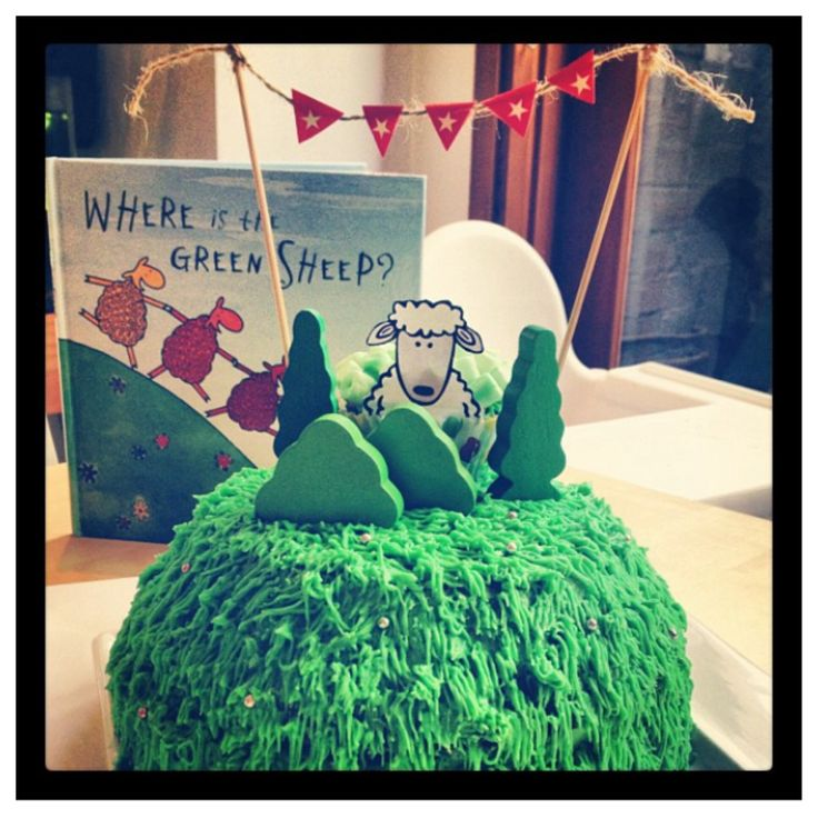 where is the green sheep cake party