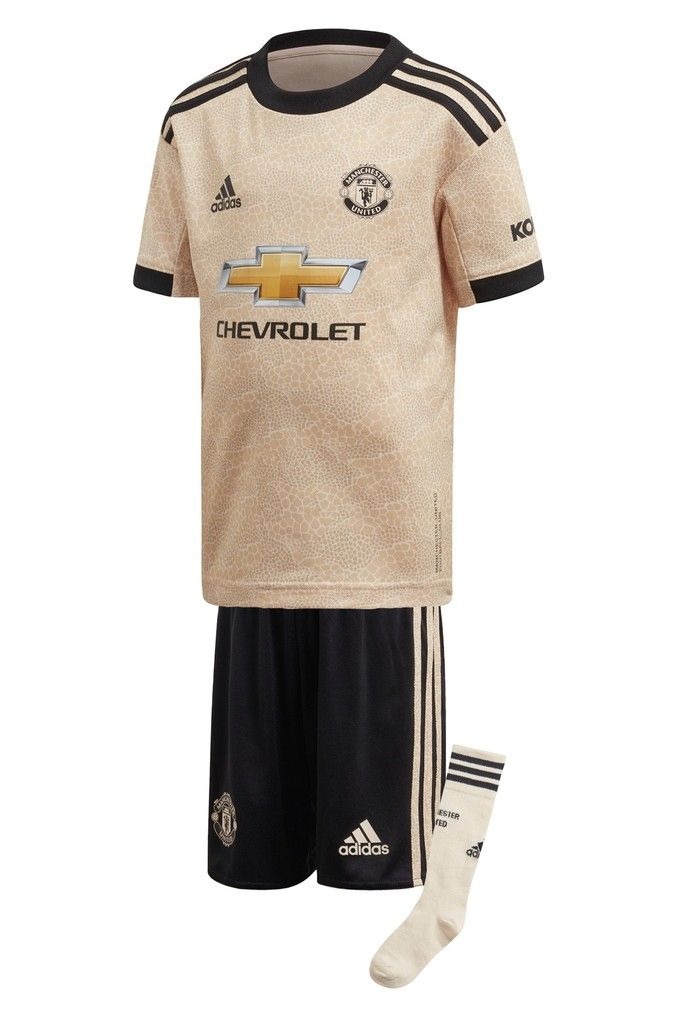 Boys Adidas Cream Manchester United Football Club 2019 2020 Away Kit Cream Manchester United Football Club Manchester United Football Manchester United