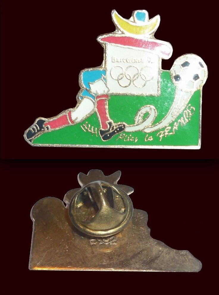 OLYMPIC GAMES BARCELONA 1992 - Rare Pin FRANCE Soccer Football  | eBay