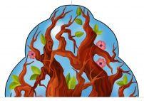 Красивое весеннее дерево. Картинка для оформления
