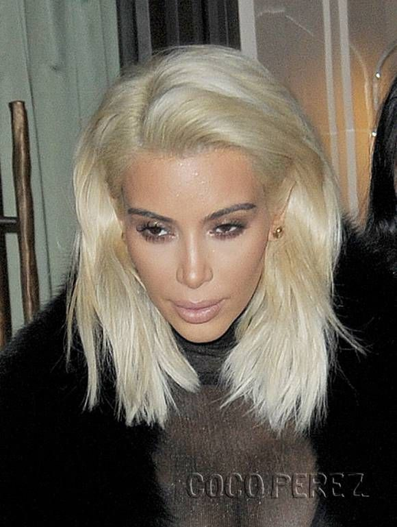 Kim Kardashian Reveals Even Blonder Hair After Giving Paris An Eyeful Of Her Curvaceous Booty! | CocoPerez.com