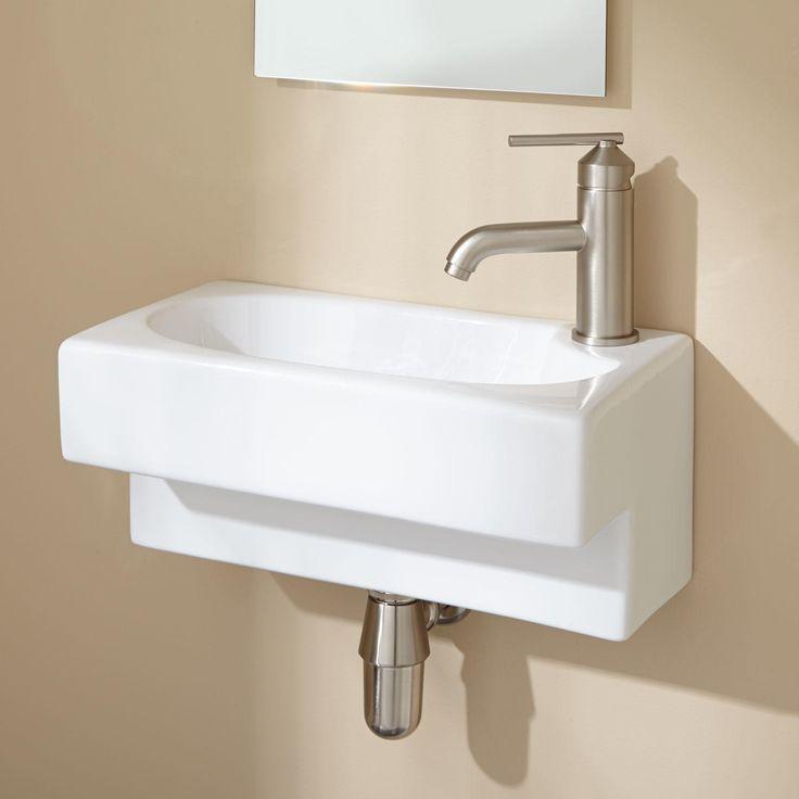Hanser wall mount bathroom sink 403 penn pinterest for Yesler wall mount glass sink