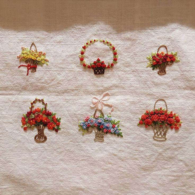 #embroidery #flowers #florals #꽃 #handmade #needlework #embroider #bordado #dmc #gachi