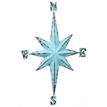 Blue Vintage Direction Star Wall Decor from Hobby Lobby-- paint this dark brown.