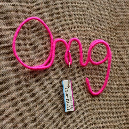 OMG  Wool Wrapped Letters by HandmadeByNehaBajaj on Etsy