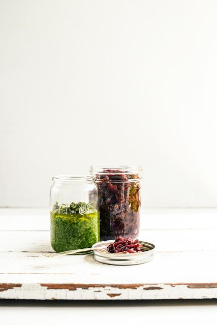 From the Kitchen I Basil Pesto and Onion Jam - the holiday essentials