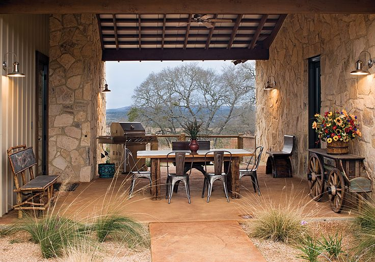 Ranch House Backyard Design : Covered Outdoor Dining Area  home sweet home  Pinterest