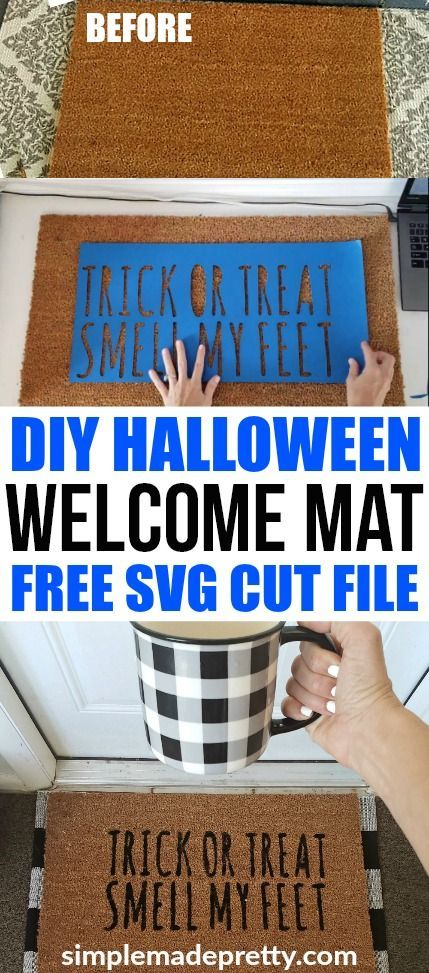 DIY Halloween Doormat With Free SVG File (for Cricut & Silhouette)