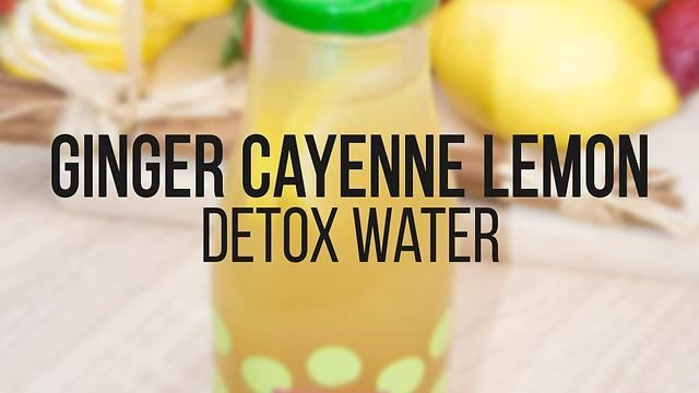 Ginger cayenne lemon detox water recipe