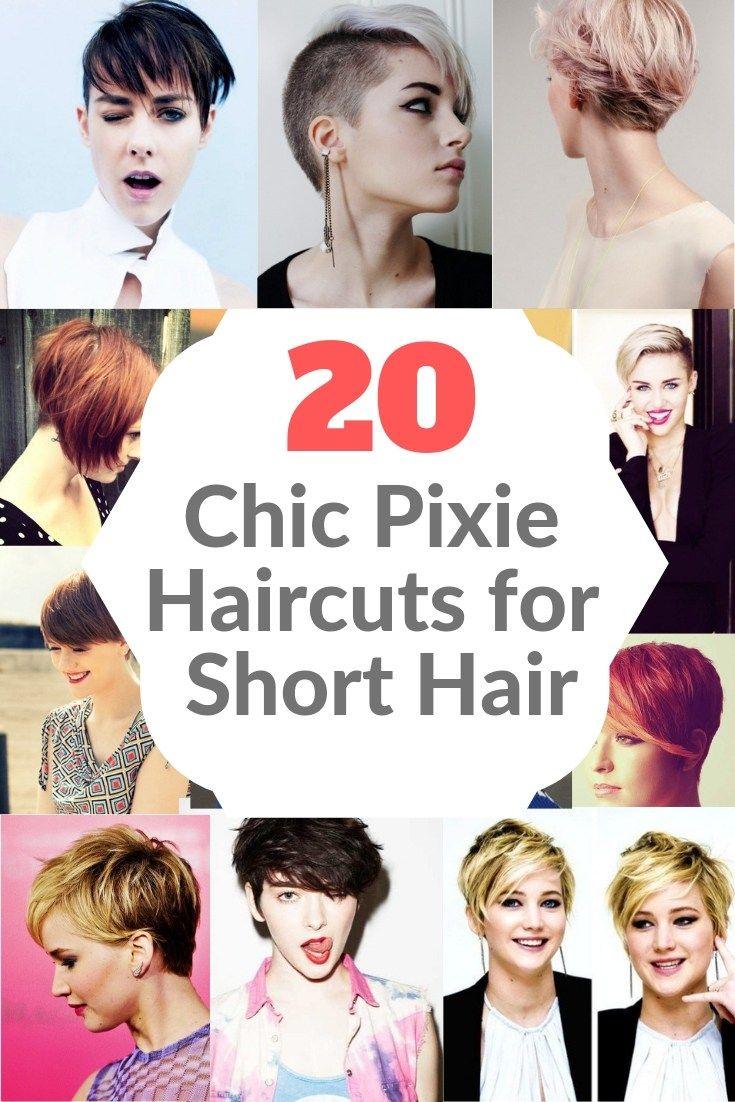 20 Chic Pixie Haircuts For Short Hair Pixie Haircut Short Hair