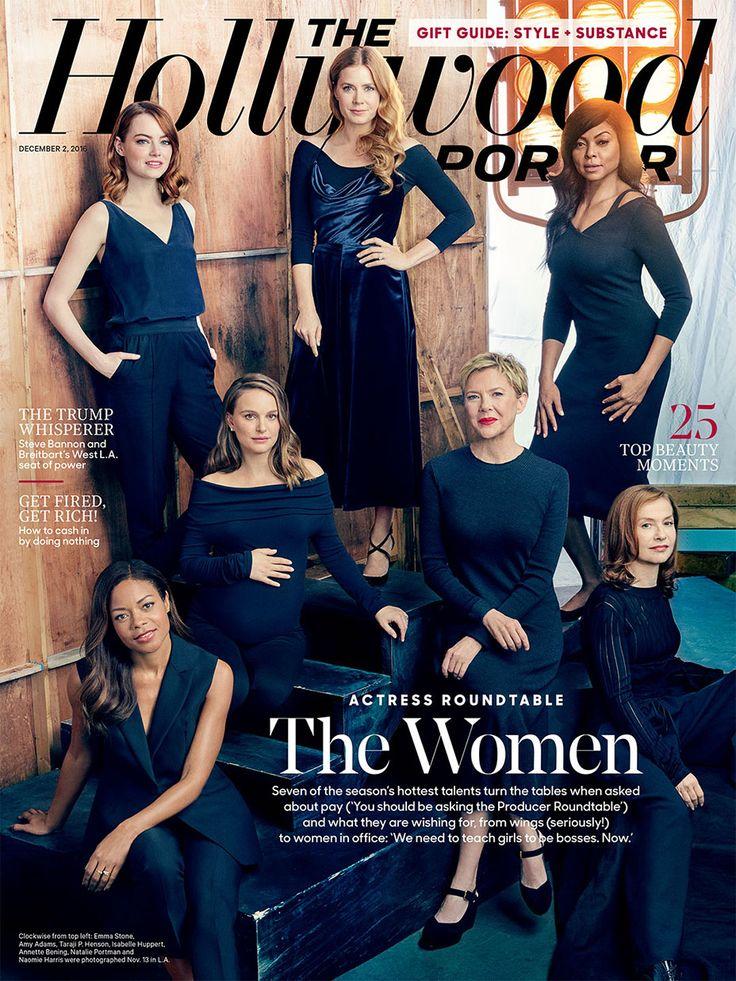 Actress Roundtable: Emma Stone, Natalie Portman, Taraji P. Henson, Annette Bening, Isabelle Huppert, Naomie Harris, and Amy Adams