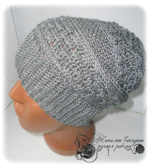 "Онлайн - вяжем мужскую шапку-чулок   ""Crochet spring"" - вязание крючком"