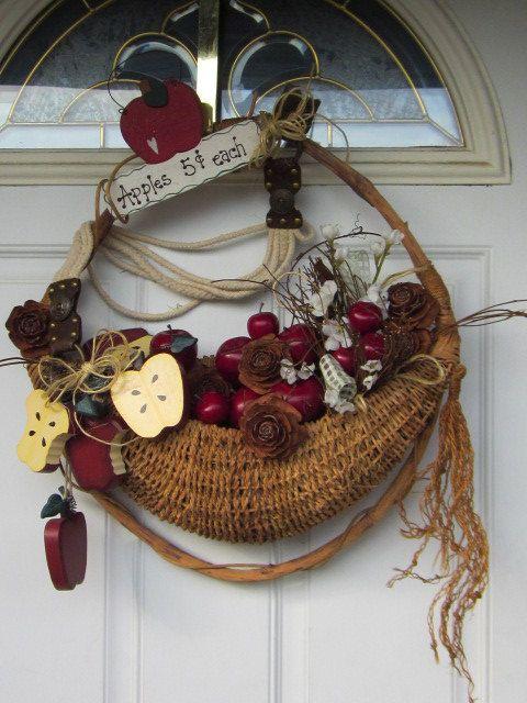 OOAK AppLe Blossoms Unique Front Door Home